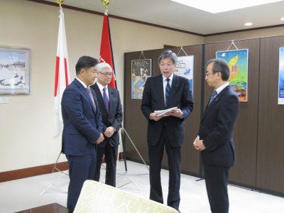 令和2年1月27日 知事に令和2年度県予算に係る要望を行いました!